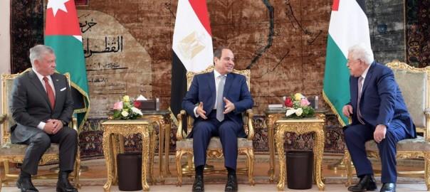 tripartite Jordan, Egypt Palestine meeting Cairo 2 9 2021 WAFA picture (1)